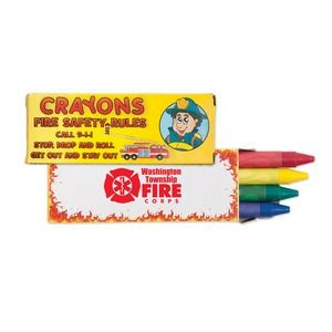 4 Pack Fire Safety Crayons